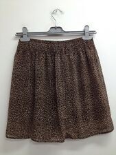 New Look - Brown Mix Leopard Print Party Skirt Size Uk 12 (T566)