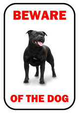 BEWARE OF THE DOG - STAFFORDSHIRE BULL TERRIER - LAMINATED SIGN FUN