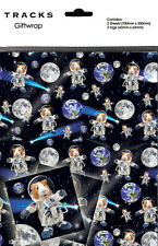 Guinea Pig Spaceman Novelty Gift Wrap Wrapping Paper Birthday 2 Sheets Tags