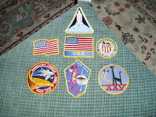 Vintage NASA SPACE SHUTTLE PATCH LOT Of 7 Patches RARE !