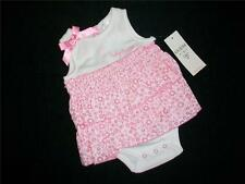 NWT Baby Guess Girls White Pink Skirted Romper Outfit Set Sz 3-6 Mo