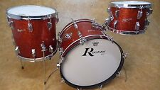 Vintage 1960's Rogers Holiday 3pc Shell Pack Red Sparkle