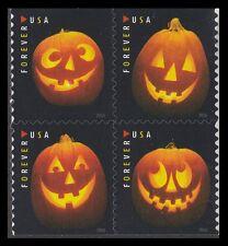 US Halloween Jack-O'-Lanterns forever block set (4 stamps) MNH 2016