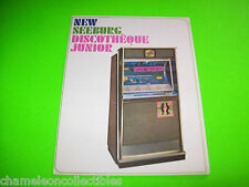 DISCOTHEQUE JR By SEEBURG 1965 ORIGINAL JUKEBOX PHONOGRAPH SALES FLYER BROCHURE