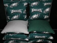 All Weather Cornhole Bean Bags w PHILADELPHIA EAGLES Resin Filled Waterproof!