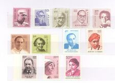 INDIA 2008-2009 10th Definitive Series Builders of Modern India Set of 12 stamps