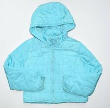 Gap Kids Girls M 8 Spring aqua blue puffer lightweight Primaloft jacket coat