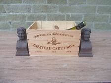 WINE BOOKENDS ? DISPLAY  GREAT FOR RETAIL  HOME DECOR   BREWERANIA  BACCHUS