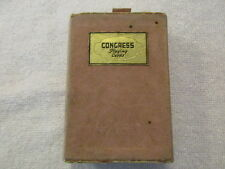 Vintage Congress Playing Cards In Pink Velvet Case - Used Deck