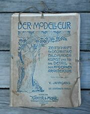 Der Modelleur,  V. Jahrgang, 120 light pressure tablets, German prints
