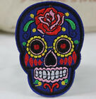 XIAC 2Pcs DIY Embroidered Cloth Iron On Patch Sew Motif Applique skull Crafts
