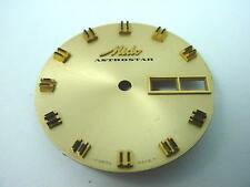 Gold Mido Astrostar 29.31mm Vintage Watch Dial Gold & Black Markers Date Window