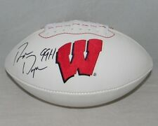 RON DAYNE AUTOGRAPHED SIGNED WISCONSIN BADGERS WHITE LOGO FOOTBALL JSA