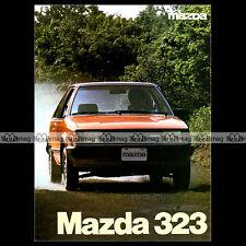 ★ MAZDA 323 FF (FAMILIA) BD ★ 80's - Brochure Dépliant Prospekt PUB #BA127