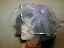 Cocktail HAT Fascinator PINK LAVENDER Derby Hats ONE SIZE Man Made Horsehair