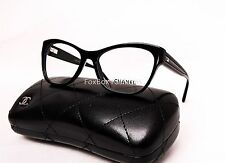 CHANEL 3307 501 Cat Eye Eyeglasses Optical Frames Glasses Black Flex Hinge 53mm