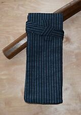 Japanese Sword Bag Cotton padded shirasaya  wakizashi thin blue striped W10