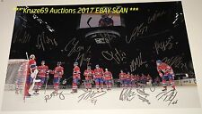 2016/17 MONTREAL CANADIENS Celebrate VICTORY 12x18 AUTO by 17~RADULOV~PACIORETTY