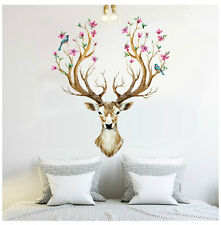 Removable Sika Animal Deer Room Home Decor Wall Sticker Art Vinyl Decal Mural UK