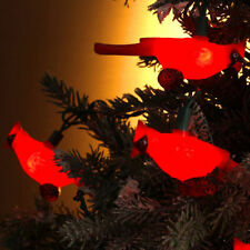 KURT S. ADLER CARDINAL BIRD LIGHT SET NOVELTY CHRISTMAS LIGHTS