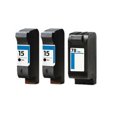 2x HP 15 & 78 cartouches pour psc750 psc 750 hp15 hp78