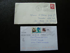 FRANCE - 2 enveloppes 1970 2009 (cy68) french