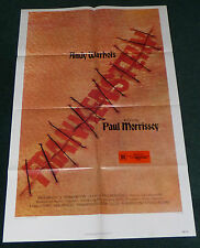 ANDY WARHOL'S FRANKENSTEIN 1974 ORIGINAL 1 SHEET MOVIE POSTER JOE DALLESANDRO
