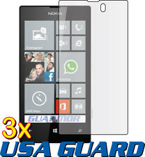 3x Nokia Lumia 520 Clear LCD Screen Protector Guard Shield Cover Protective Film