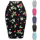 New Polka Dots/Floral Rockabilly Dress Pin Up Vintage 40s Swing Housewife Skirts