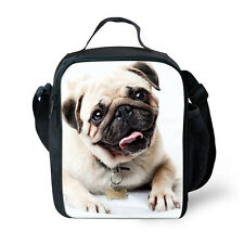 Cute Pug Thermal Insulated Picnic Lunch Bags Kids School Lunch Box Container Bag