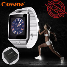 Cawono DZ09 White Smart GSM SIM Phone Wrist Watch US Local stock for iOS/Android