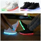 Unisex Women Men USB LED Shoes Casual Sneaker Lace Up Spotlight Sportswear
