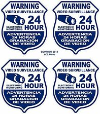 LOT Of 4   Security Video Decal Sign Stickers for Windows & Doors