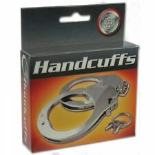 STEEL METAL HANDCUFFS STRONG Bondage Police Party Hand Cuffs Sex Aid Hen Stag