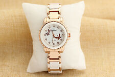Womens Watches Wristwatch Watch Vintage Gold Plated crystal Swiss Free Shipping