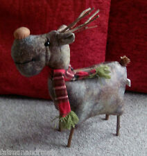 CHRISTMAS Reindeer / Moose Decoration Faux Leather Twiggy Legs