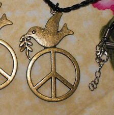 Peace Dove Necklace symbol for World Peace, Love  Harmony and Enlightenment