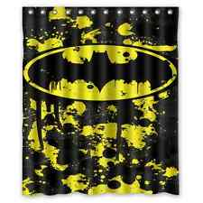 Batman Logo Superhero Polyester Waterproof Bath Shower Curtain 60 x 72 Inch