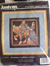 RARE Renaissance Gentleman and Lady, Donna Giampa counted X stitch KIT, Janlynn