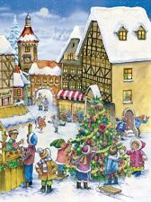 Richard Sellmer Verlag Traditional German Paper Advent Calendar Christmas Town
