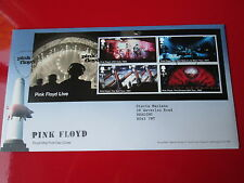 PINK FLOYD LIVE FIRST DAY COVER STAMPS FDC Syd Barrett Connection, READ ON !!!!