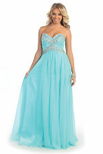 Gorgeous Long Strapless Aqua Prom Dress Formal Homecoming
