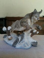 "Danbury Mint ""Winter Chase"" Sculpture - Nick Bibby - N.A. Big Cats Collection"