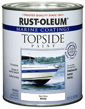Rust-Oleum 207000 Marine Topside Paint, Semi-Gloss White,1-Q (Semi-Gloss White)