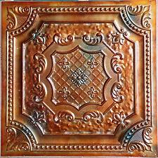 PL04 Faux tin ancient copper ceiling tiles cafe club decor wall panels10tile/lot