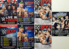 7 X WWE LIVE WRESTLING FLYERS 2016 TOUR LONDON MANCHESTER ARENA + 2015 2015 2011