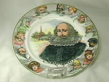 "ROYAL DOULTON SHAKESPEARE PLATE D.6303 10 1/2"" DIAMETER SWEET SWAN OF AVON ns"