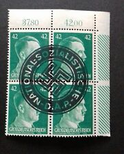 Germany 42 Reichpfennig ADOLF HITLER STAMPS - DAP rubber stamp (AC6)