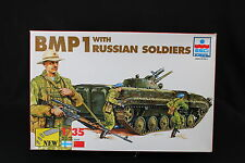 YC031 ESCI 1/35 maquette tank char 5036 BMP 1 with Russian soldiers
