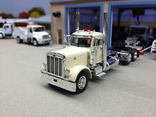 1/64 DCP WHITE 379 PETERBILT DAY CAB LONG FRAME